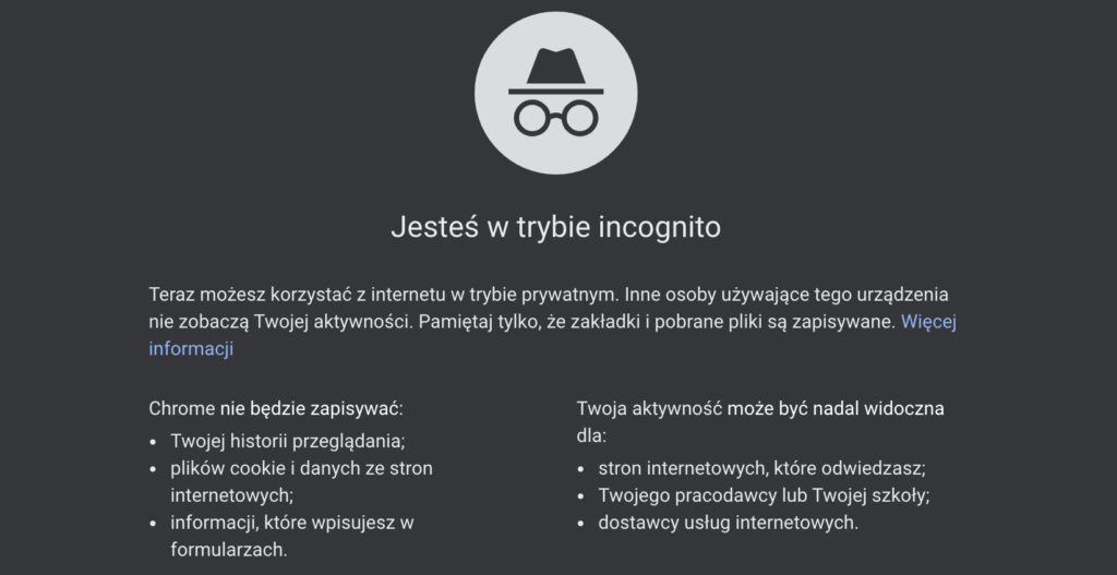 Tryb incognito